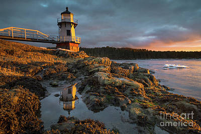 Photograph - Doubling Point Tide Pool Reflection by Benjamin Williamson