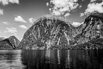 Doubtful Sound Bw Art Print by Joan Carroll