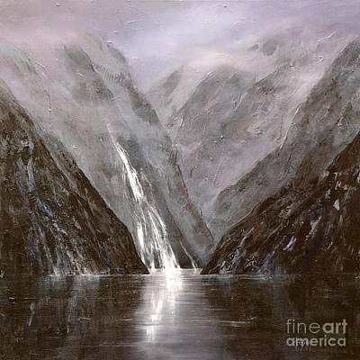 Doubtful Painting - Doubtful Sounds 1 - New Zealand by Jennifer Cruden
