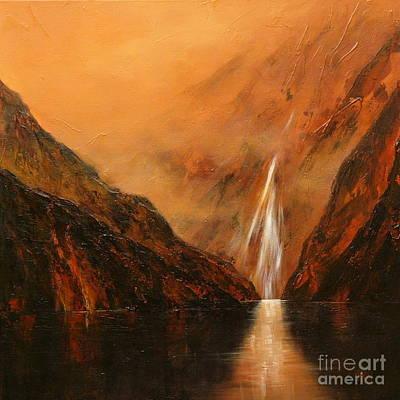 Doubtful Painting - Doubtful Sounds 2 - New Zealand by Jennifer Cruden