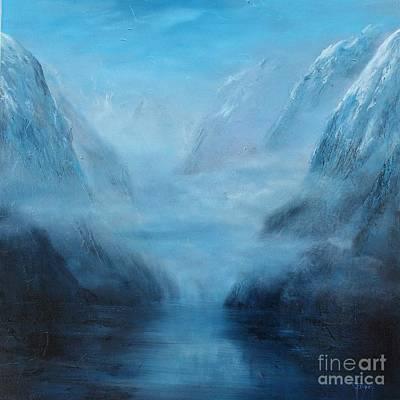 Doubtful Painting - Doubtful Sounds 3 - New Zealand by Jennifer Cruden