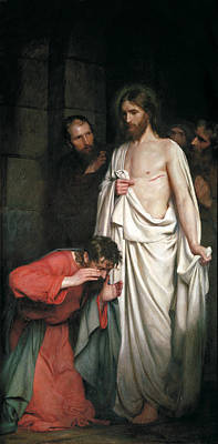 Doubting Thomas Art Print by Carl Heinrich Bloch