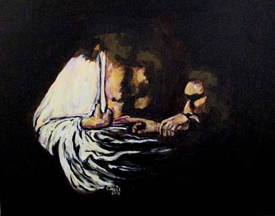 Painting - Doubting Thomas by Clyde J Kell
