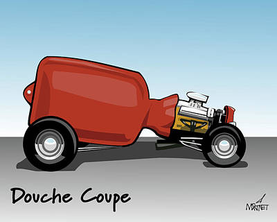 Digital Art - Douche Coupe by Mike Martinet