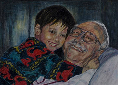 Drawing - Doug And Papafred by Laurie Tietjen