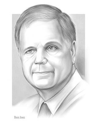 Us Senator Drawing - Doug Jones by Greg Joens