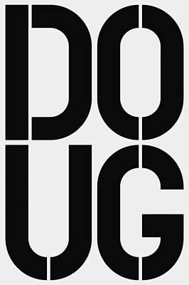 Doug Art Print by Three Dots