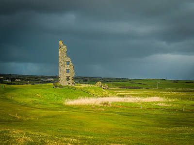 Photograph - Dough Castle In Ireland's County Clare by James Truett