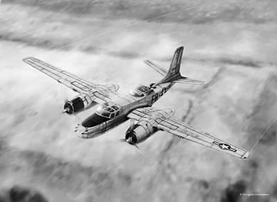 Drawing - Douglas A-26 Invader by Douglas Castleman