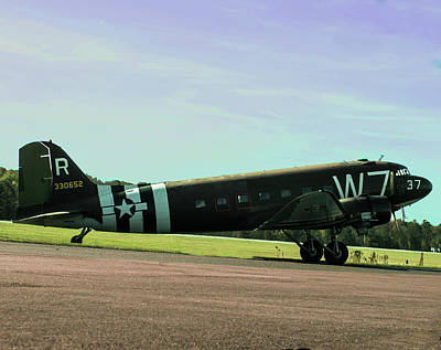 Photograph - Douglas C-47 Skytrain Military Transport by B Wayne Mullins
