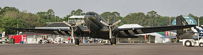 Photograph - Douglas C-47 Skytrain Troop Transport by John Black