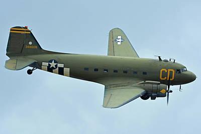 Douglas C-47b Dakota N47sj Betsy's Biscuit Bomber Chino California April 30 2016 Art Print by Brian Lockett
