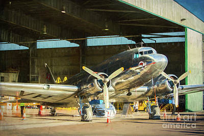 Photograph - Douglas Dc3 In The Hangar by Stuart Row