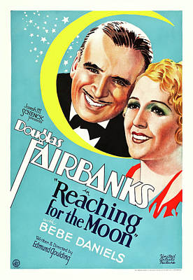 Classic Film Star Mixed Media - Douglas Fairbanks In Reaching For The Moon 1930 by Mountain Dreams