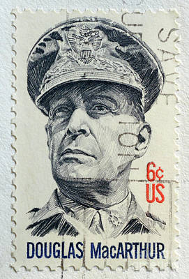 Photograph - Douglas Macarthur - Stamp by Paul W Faust - Impressions of Light