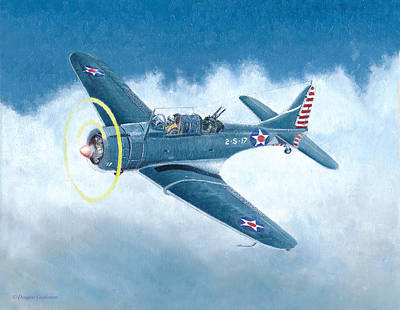 Painting - Douglas Sbd-3 Dauntless by Douglas Castleman