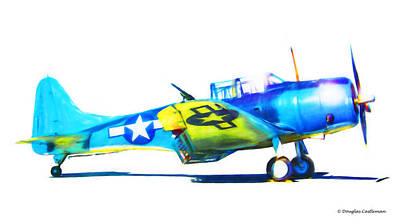 Digital Art - Douglas Sbd Dauntless by Douglas Castleman