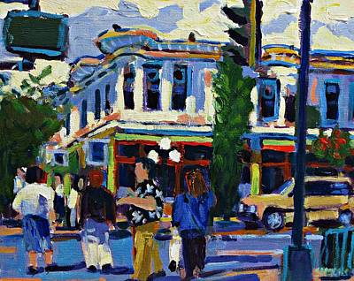 Colorful Painting - Douglas Street by Brian Simons
