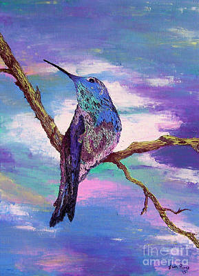 Painting - Dougs Hummingbird by Lisa Rose Musselwhite