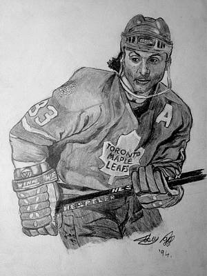 Toronto Maple Leafs Drawing - Dougy by Mike N