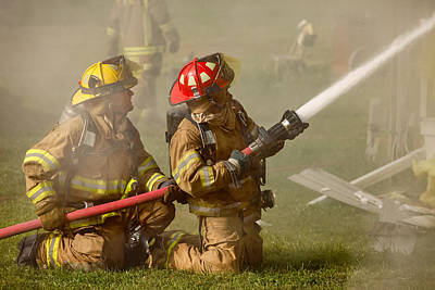 Fire Photograph - Dousing The Flames by Todd Klassy
