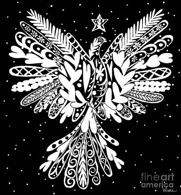 Drawing - Dove Blessed With A Star by Lise Winne