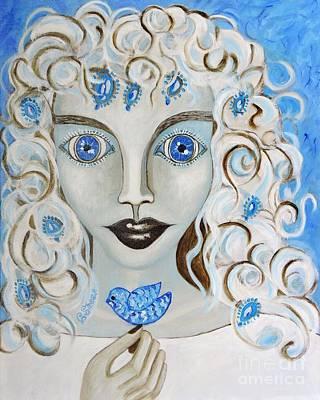 Dove Blues Art Print by Caroline Street