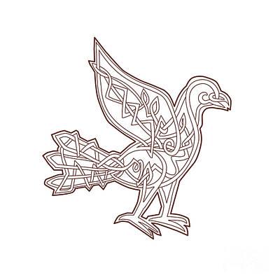 Personalized Name License Plates - Dove Celtic Knotwork by Aloysius Patrimonio