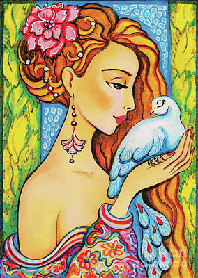 Painting - Dove Fairy by Eva Campbell