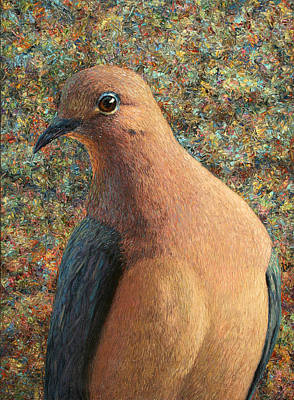 Doves Painting - Dove by James W Johnson