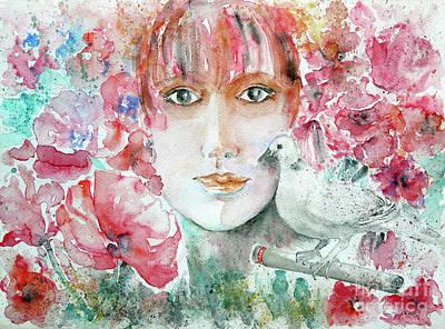 Dove Art Print by Jasna Dragun