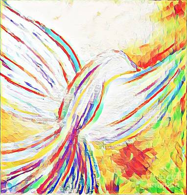 Mixed Media - Holy Spirit by Jessica Eli
