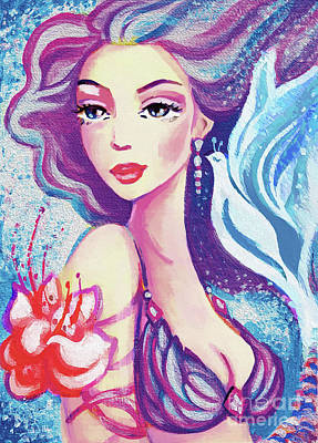 Painting - Dove Mermaid by Eva Campbell