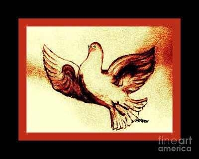 Burnt Digital Art - Dove Of Love by Marsha Heiken