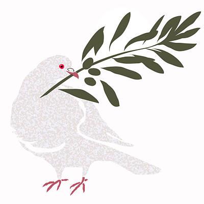 Digital Art - Dove Of Peace by Attila Meszlenyi