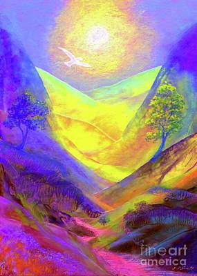 Glowing Painting - Dove Valley by Jane Small