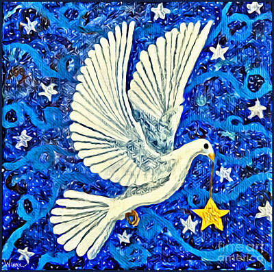 Painting - Dove With Star by Lise Winne