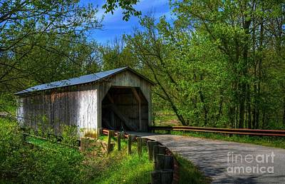 Historic Bridge Photograph - Dover Covered Bridge by Mel Steinhauer