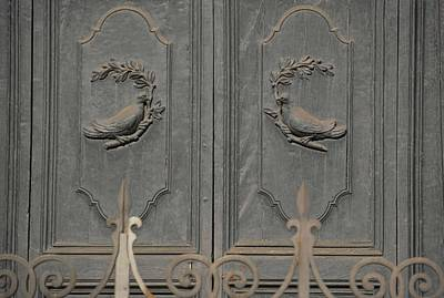 Doves On The Doorway Art Print by JAMART Photography