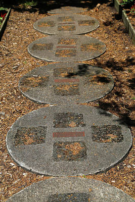 Photograph - Dow Gardens Paving Stone Path 1 by Mary Bedy