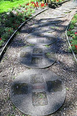 Photograph - Dow Gardens Paving Stone Path 3 by Mary Bedy