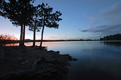 Mixed Media. Mixed Media Sunset . Mixed Media Colorado Sunset Photograph - Dowdy Lake Silhouette by James Steele