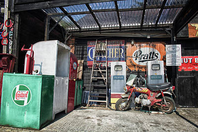 Workshop Logo Photograph - Down At The Garage by Martin Newman