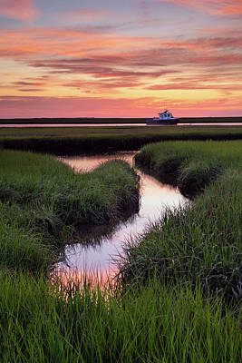 Photograph - Down At The Marsh by Michael Blanchette