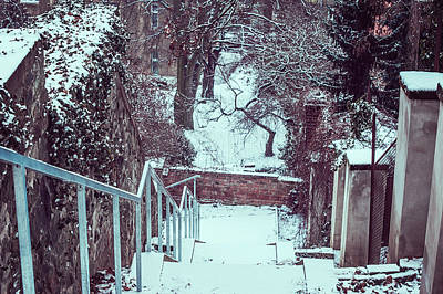 Photograph - Down By Snowy Old Stairs by Jenny Rainbow