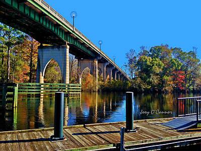 Down By The Bridge In Fall Art Print