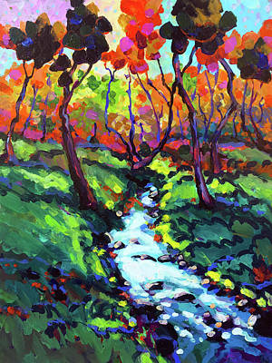 Wall Art - Painting - Down By The Little Creek by Charles Wallis