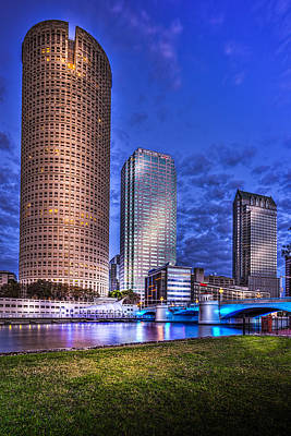 Tampa Skyline Photograph - Down By The River by Marvin Spates