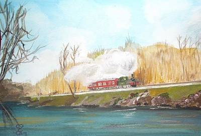 Painting - Down By The River Side by Carole Robins