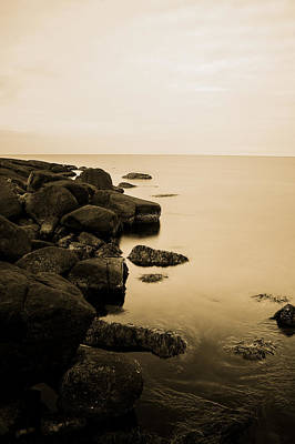 Sweden Digital Art - Down By The Sea Stone And Water by Tommytechno Sweden